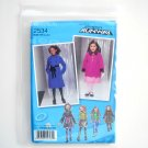 Girls Coat Jacket Vest Project Runway Size 3 - 6 Simplicity Sewing Pattern 2534