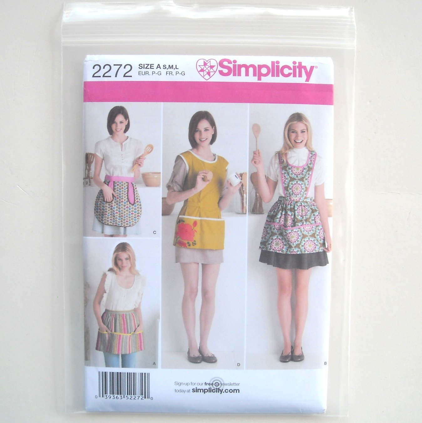 Misses Aprons Size S M L Simplicity Sewing Pattern 2272