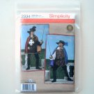 Musketeer Costume Simplicity Sewing Pattern 2334 Cape Shirt Tabard Hat Belt Size L - XL