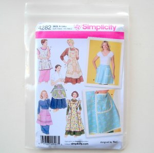 Misses Aprons Size A S - L Simplicity Sewing Pattern 4282