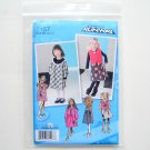 Toddlers Girls Dress Jumper Vest Project Runway Size BB 4 - 8 Simplicity Sewing Pattern 2157