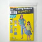 Childs Girls Separates Top Skirt Pants Shorts Size HH 3 - 6 Simplicity Sewing Pattern Dummies 4206