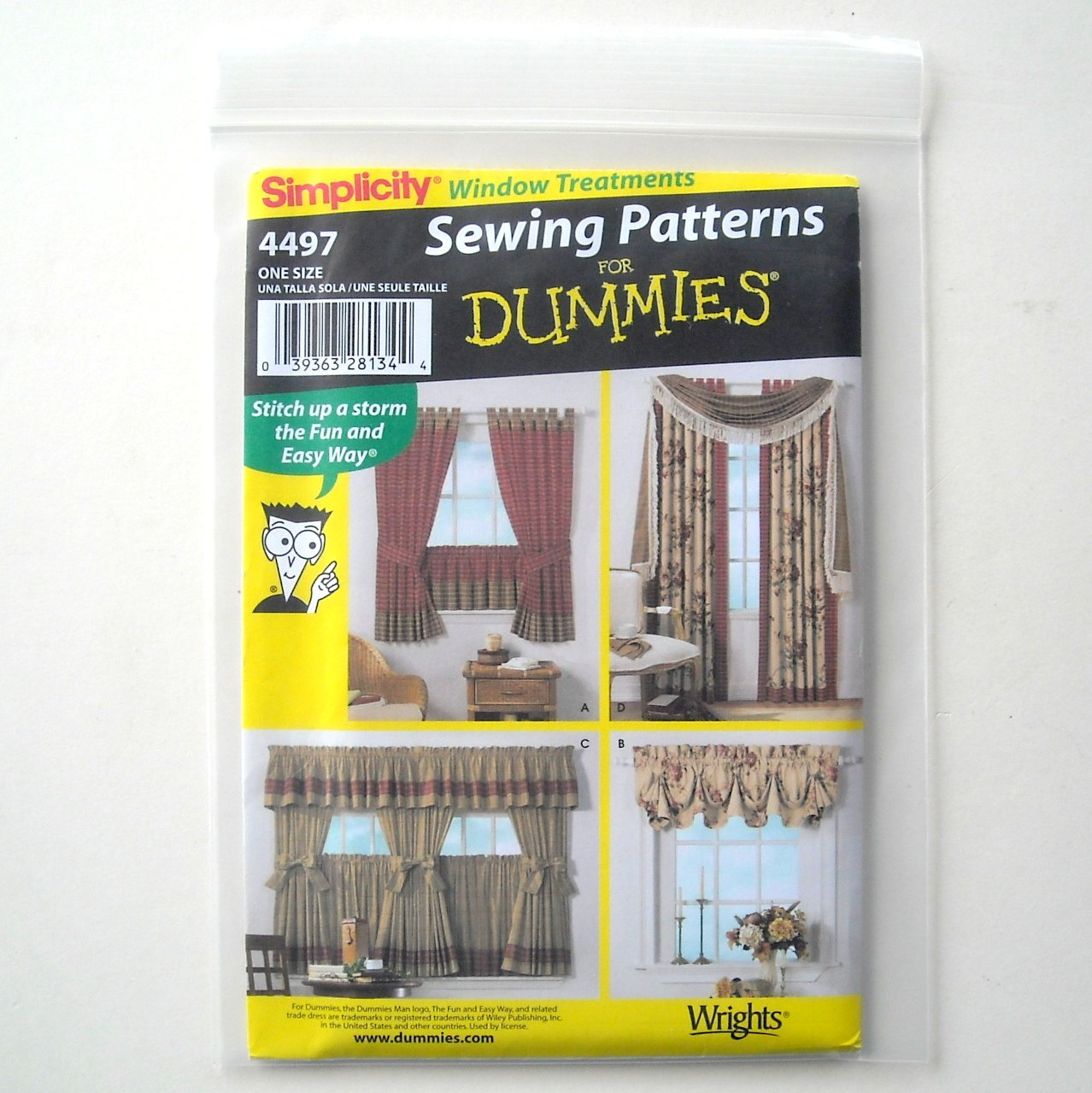 Home Decorating For Dummies: Home Decorating Window Treatments Simplicity Sewing