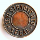 Levi Strauss & Co S F Cal Brass color Rivet belt buckle