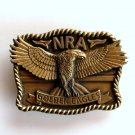 National Rifle Association NRA Golden Eagles Brass Color Belt Buckle