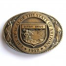 Tony Lama Great Seal Of The State Of Arizona 1912 Solid Brass belt buckle