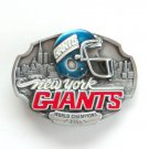 New York Giants World Champions 3D Vintage NFL Siskiyou Pewter belt buckle