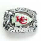 Kansas City Chiefs 3D Vintage NFL Siskiyou Pewter belt buckle