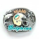 Miami Dolphins 3D Vintage NFL Siskiyou Pewter belt buckle