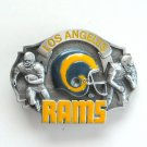 Los Angeles Rams 3D Vintage NFL Siskiyou Pewter belt buckle