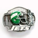 New York Jets 3D Vintage NFL Siskiyou Pewter belt buckle