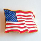 American USA Stars and Stripes Flag Belt Buckle