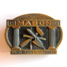 Mason Stone Brick Concrete brass GAB belt buckle