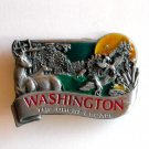 Washington Color The Great Escape Bergamot pewter belt buckle