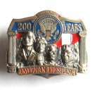 200 Years American Presidency Brass Color Belt Buckle