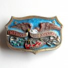 Proud To Be American Vintage GAB brass belt buckle