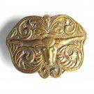Taurus Sign Bergamot Brass Color Vintage Belt Buckle