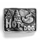 Hot Dog Bergamot pewter belt buckle