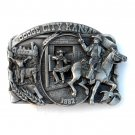 Wyatt Earp Dodge City Kansas Siskiyou 3D mens Pewter Belt Buckle