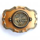 Bullfights Dodge City Kansas belt buckle