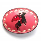 Zorro Embroidered Tony Lama Leather belt buckle