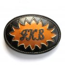 JKB Embroidered Tony Lama Leather belt buckle
