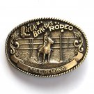 Little Britches Rodeo Pole Bending Tony Lama Brass Belt Buckle