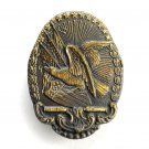 Vintage American Eagle Oval Brass belt buckle