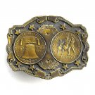 Two Hundred Years Of Free Enterprise Brass belt buckle