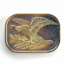 Eagle Gold Silver Color belt buckle