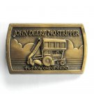 John Deere 740 Stripper Brass Color Belt Buckle