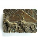Coca Cola 75 Years Bergamot Brass Belt Buckle