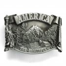 America The Beautiful Bergamot Pewter Belt Buckle