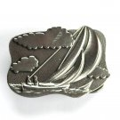 Vintage Yacht Sail Boat Sailing Seascape Great American belt buckle