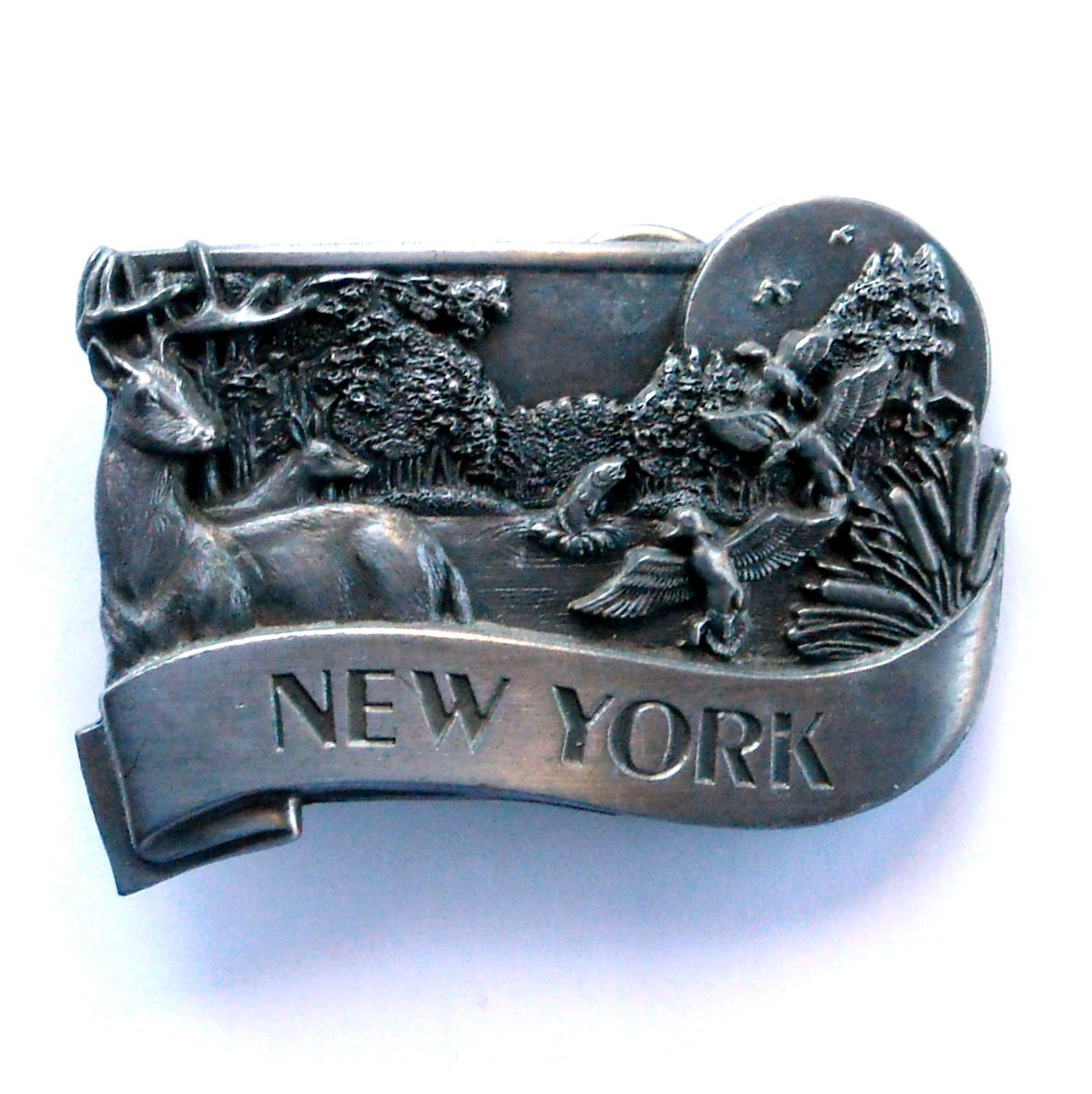 New York Vintage Bergamot Pewter belt buckle