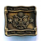 Vintage The Great Seal Bicentennial Brass belt buckle
