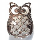 Owl Silver Color Open Cut Out Unisex belt buckle
