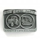 J I Case Parts Land Of Opportunity pewter belt buckle