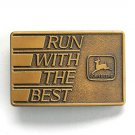 John Deere Run With The Best Copper color belt buckle