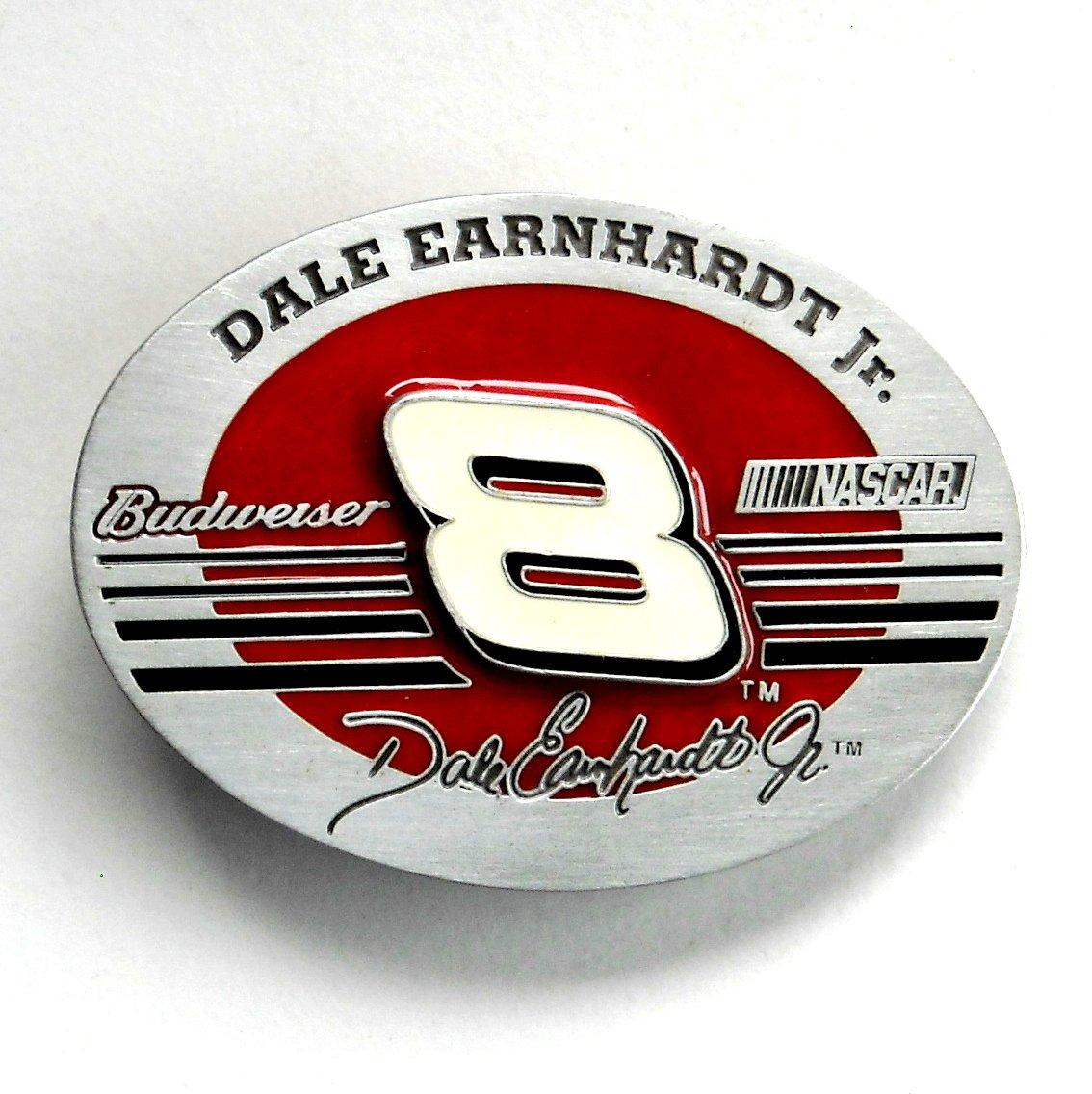 Dale Earnhardt Jr 8 Budweiser Nascar pewter belt buckle