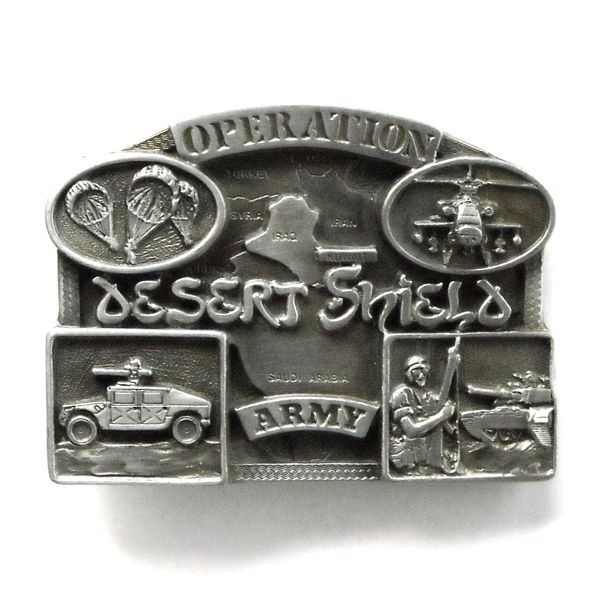 Operation Desert Shield Army Pewter belt buckle