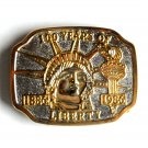 100 Years Of Liberty Statue Vintage belt buckle