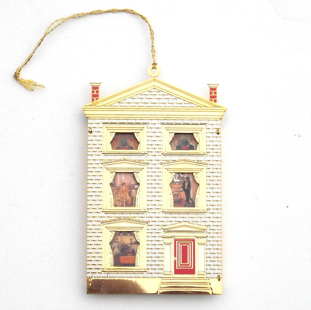 B & G Doll House Collection Dr Satterlees House 24k Gold Finish Christmas ornament