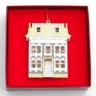B & G Doll House Collection Dibb House 24k Gold Finish Christmas ornament