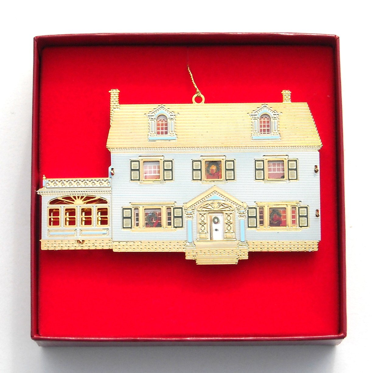 1920s Doll House Collection Bing & Grondahl 24k Gold Finish Christmas ornament
