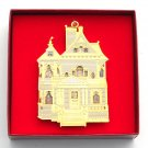 Victorian Doll House Collection Bing & Grondahl 24k Gold Finish Christmas ornament