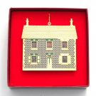 English Victorian Doll House Collection Bing & Grondahl 24k Gold Finish Christmas ornament