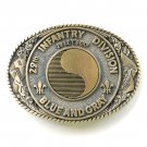 29 th Infantry Division Vintage Blue and Gray Award Design brass belt buckle