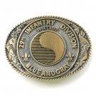 29 th Infantry Division Vintage Blue and Gray Award Design brass belt buckle