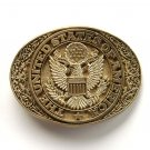 United States Of America Vintage Award Design brass belt buckle